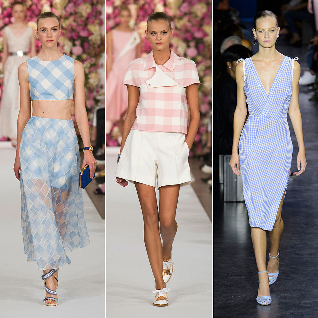 gingham spring 2015 runway fashion week trend popsugar fashion australia. Black Bedroom Furniture Sets. Home Design Ideas