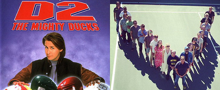 The Cast of D2: The Mighty Ducks Reunited For an Incredible Flying-V Picture