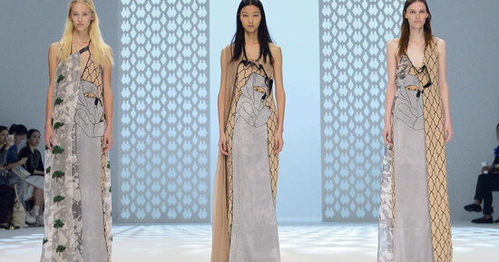 Hussein Chalayan Put Burka-Print Dresses on the Runway