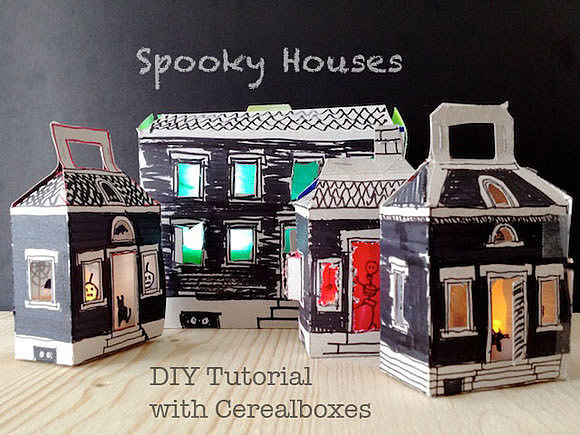 Light-Up Spooky Houses