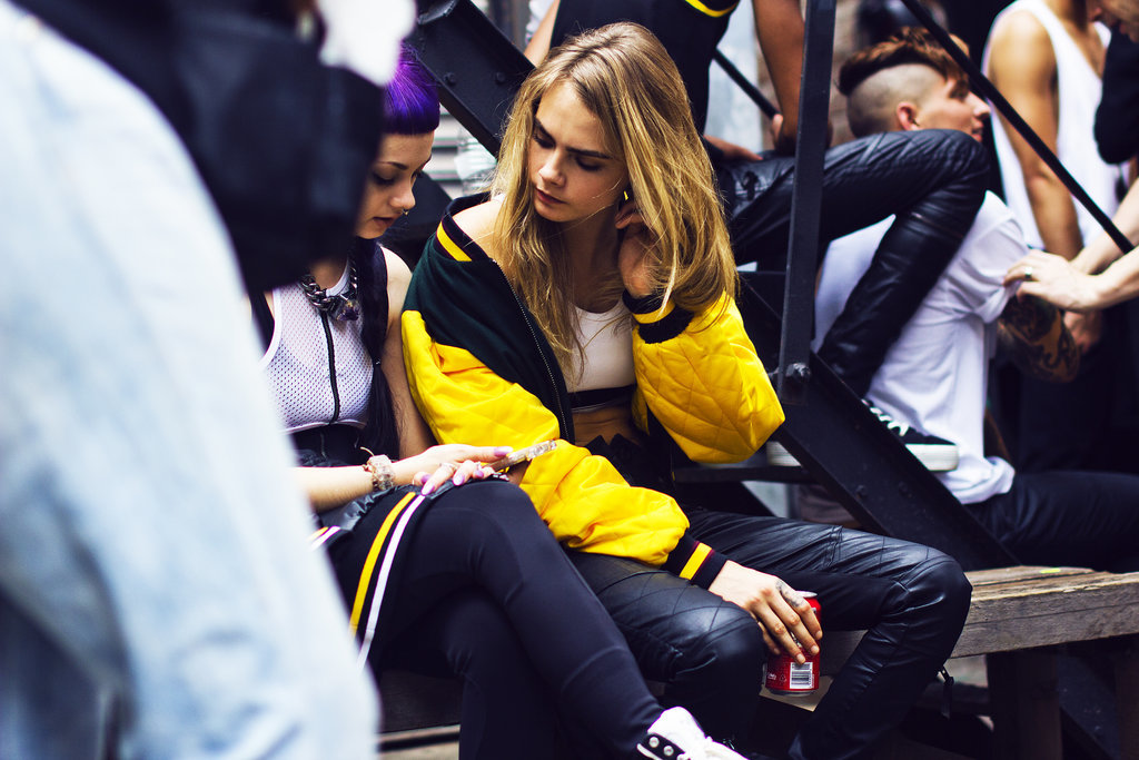 Behind the Scenes at the Cara Delevingne x DKNY Shoot