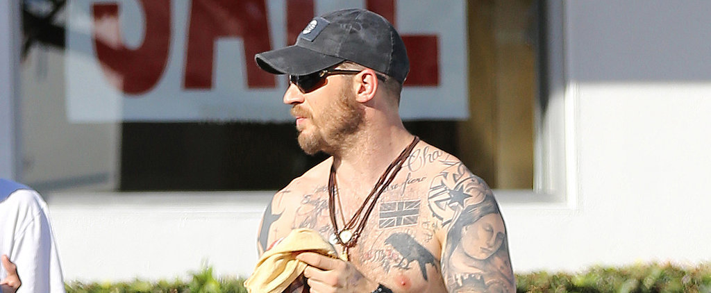 Tom Hardy Goes Shirtless While Shopping, Because Why Not?