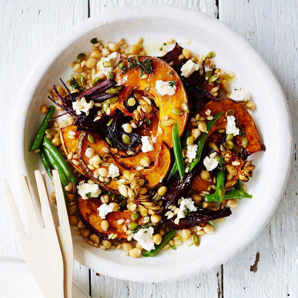 Healthy Roasted Pumpkin Salad | POPSUGAR Fitness