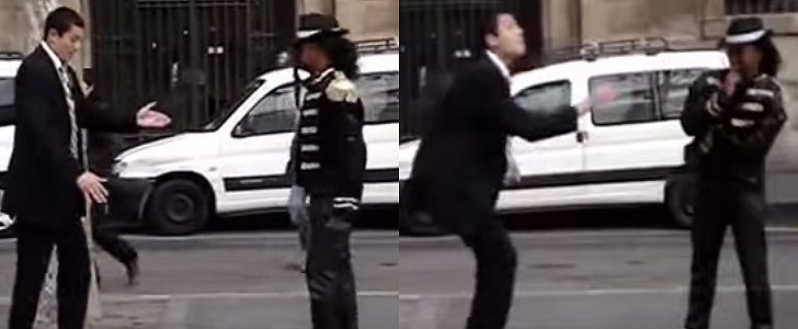 This Guy Gives a Michael Jackson Impersonator a Run For His Money