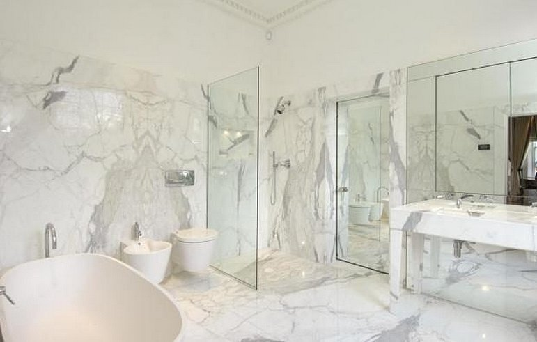 Tuck In A Vanity Area in addition Watch in addition Contemporary Master Bathrooms 7534334337 likewise Bathroom Remodel  plete together with White River Granite. on white carrara marble bathroom ideas