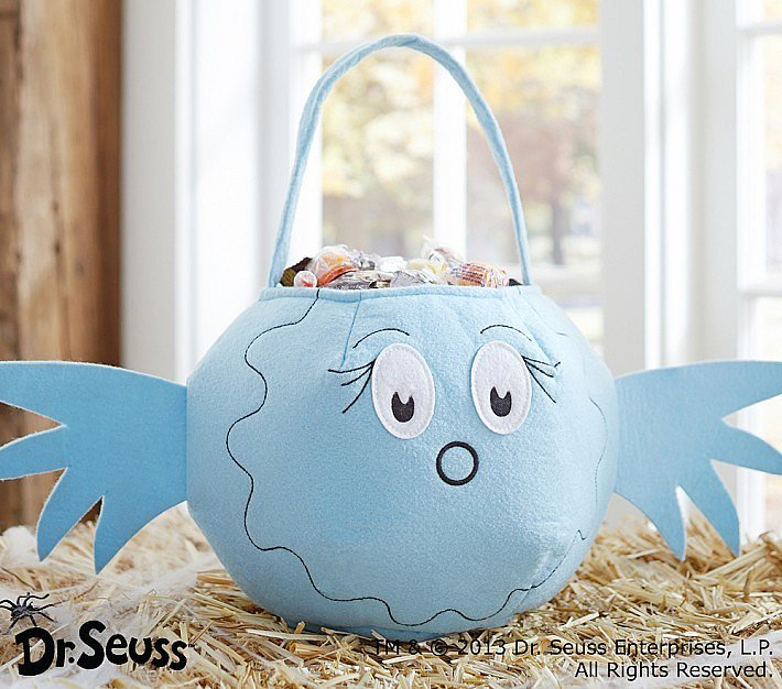 Pottery Barn Kids Dr. Seuss Blue Fish Treat Bag