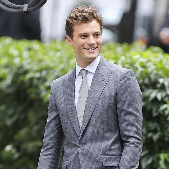 Jamie Dornan on Set Fifty Shades of Grey