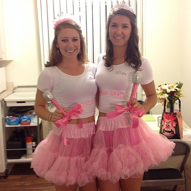 15 easy diy halloween costumes on a college budget her campus what you have to do get your bff and wear matching outfits add glitter tutus tiaras and microphones are musts solutioingenieria Gallery