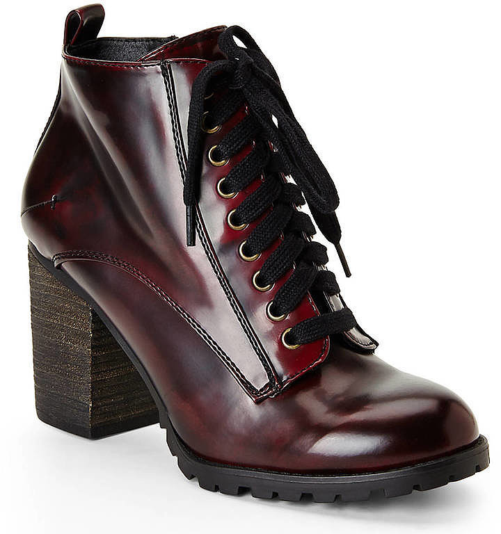 steve madden burgundy andie lace up booties fall s best