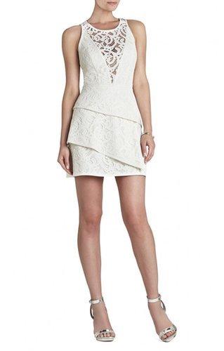 $188.00 BCBG HANAH SLEEVELESS ASYMMETRICAL-HEM DRESS
