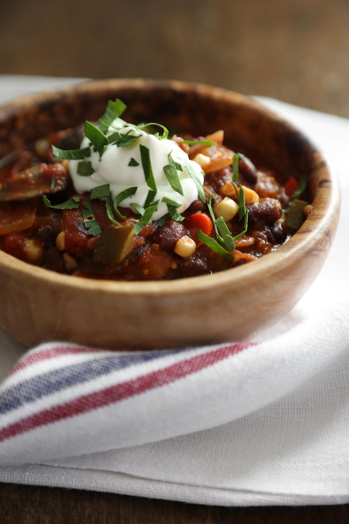 Slow-Cooker Vegetarian Chili