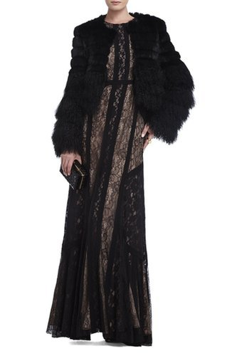 $249.00 BCBG BERNADETTE FLOORLENGTH SLEEVELESS DRESS BLACK