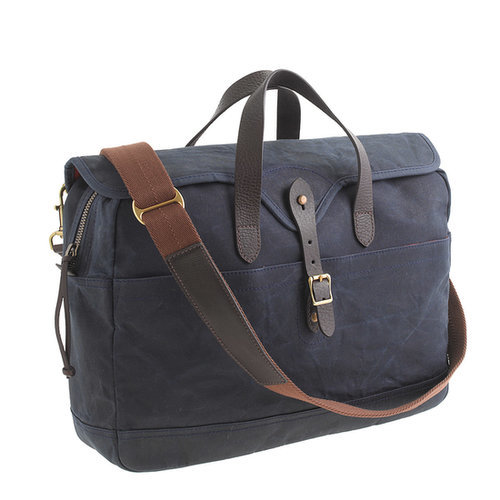 Thanks to a waxed cotton canvas exterior and leather trim, this laptop bag ($98) is as stylish as it is practical.