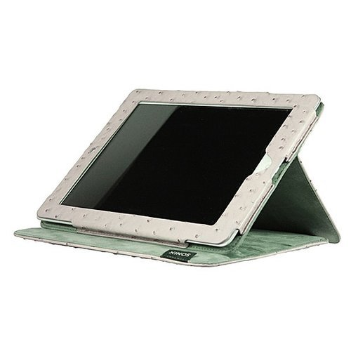 This chic iPad ostrich travel book ($40) will come in handy on all your getaways together.