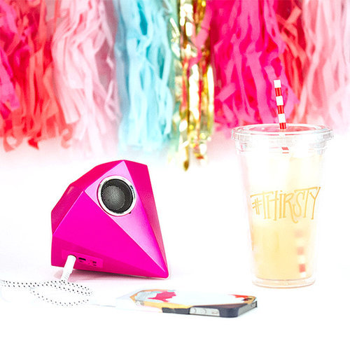 Yup, that's a giant gem speaker ($40), and it's perfect for the girl who loves music just as much as she loves to stand out.