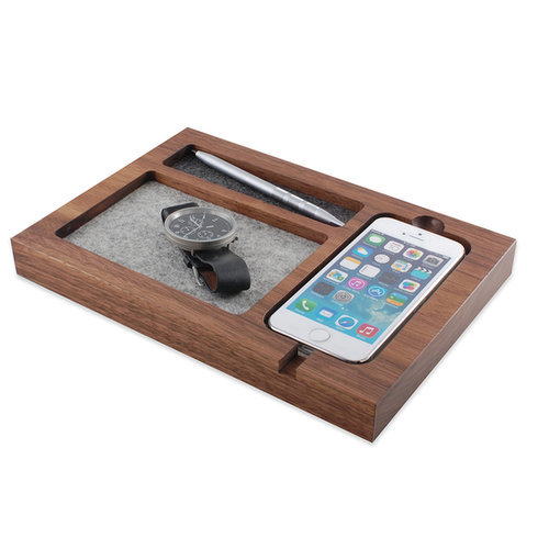 iPhone 6 Walnut Timber Tray