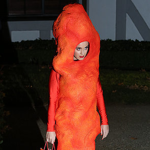 Katy Perry's Giant Cheetos Costume For Halloween 2014