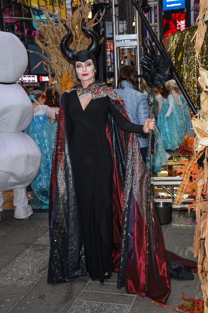 In 2014, GMA host, Amy Robach channeled Maleficent in NYC.