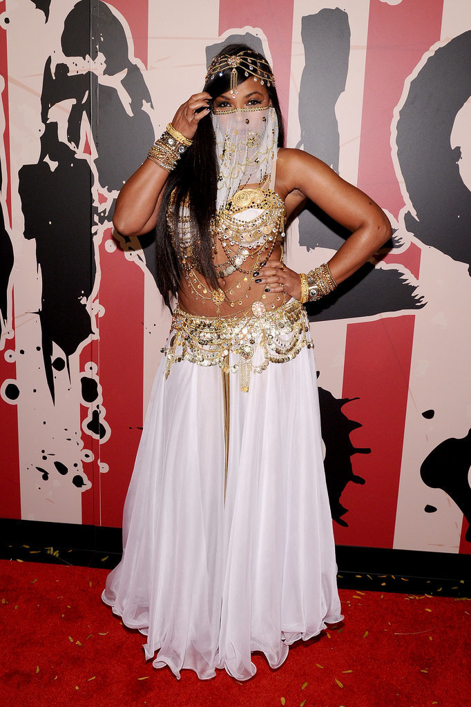 Ashanti attended Heidi Klum's Halloween party as a sexy belly dancer in 2014.