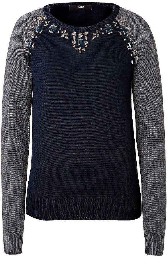 steffen schraut jeweled pullover 16 sweet holiday sweaters to scoop up now popsugar fashion. Black Bedroom Furniture Sets. Home Design Ideas