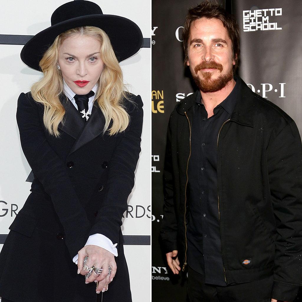 Madonna and Christian Bale