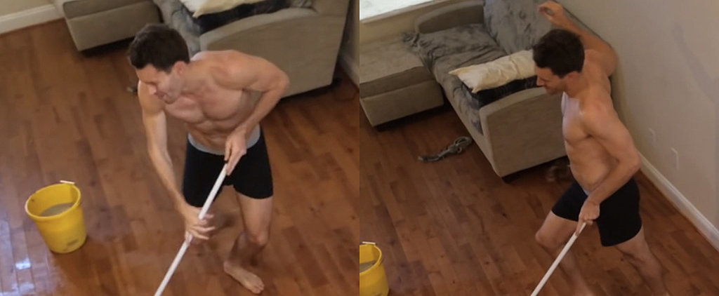 This Roommate Gets Caught in the Act While Dancing and Cleaning in Boxers