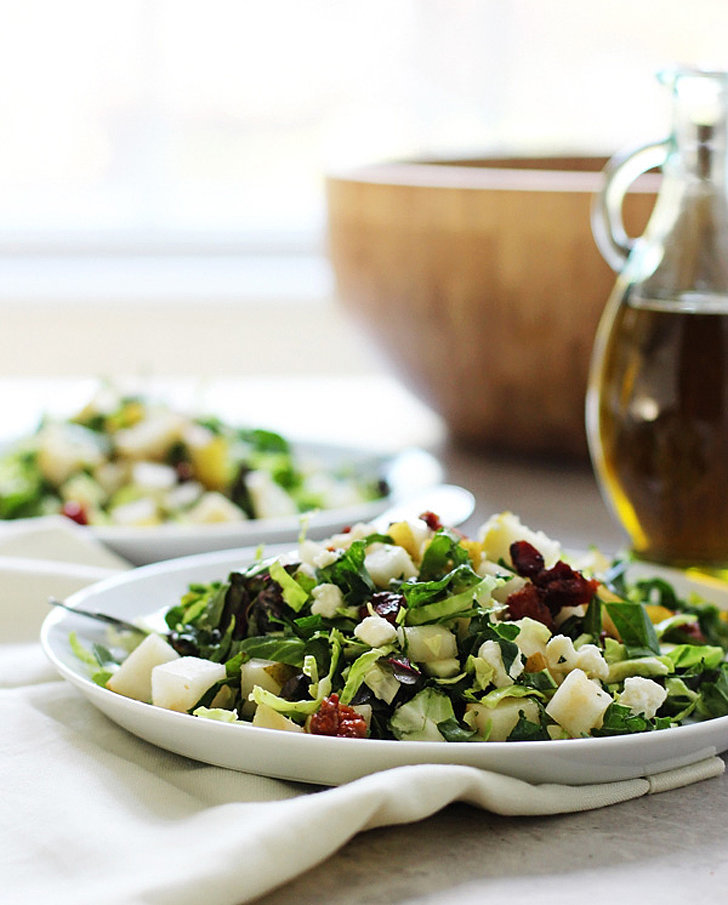 Brussels Sprouts and Kale Salad With Candied Pancetta and Blue Cheese