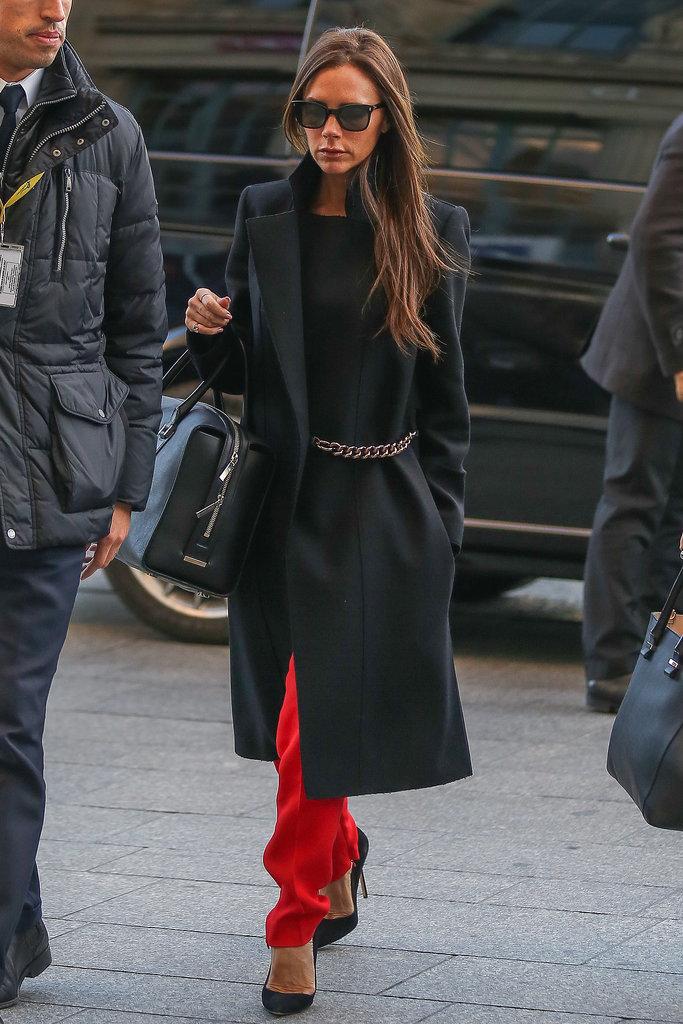 Victoria Beckham's Outerwear Style