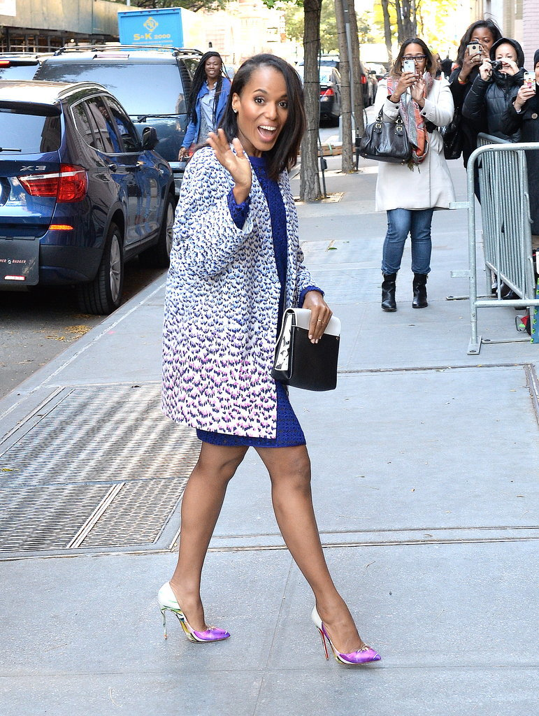 Kerry Washington's Outerwear Style
