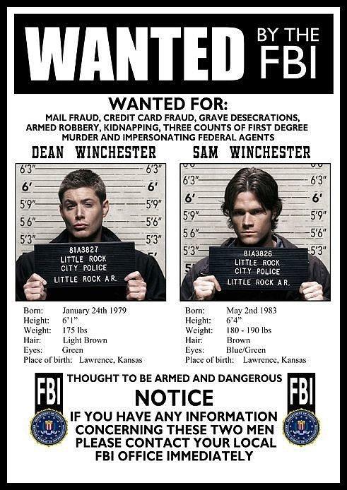 FBI Wanted Poster ($ 16)