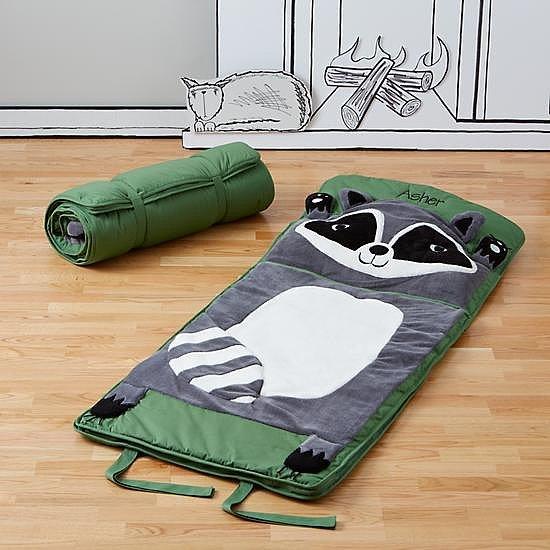 the land of nod s how do you zoo raccoon sleeping bag