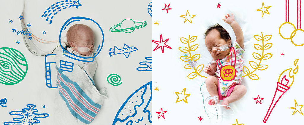 Photo Series Turns NICU Babies Into Astronauts, Olympians, and More