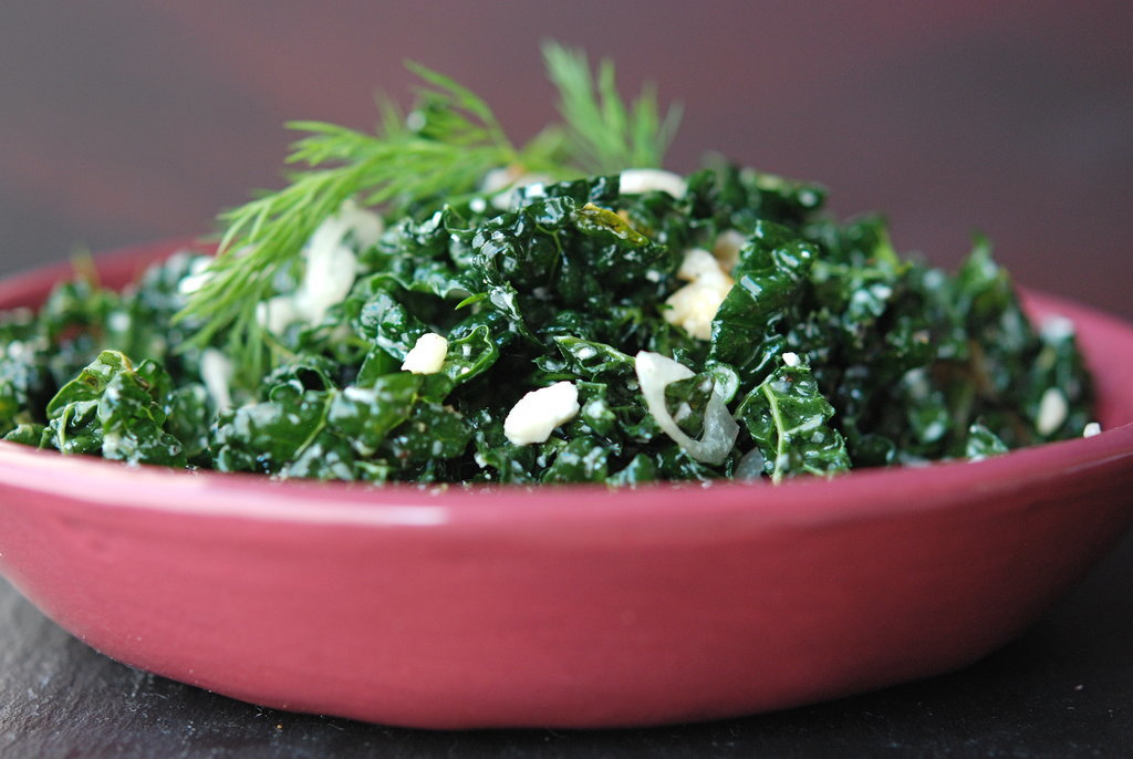 Kale Salad With Pine Nuts and Feta