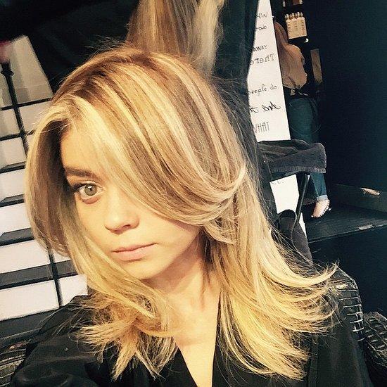 Sarah Hyland New Long Blonde Hair