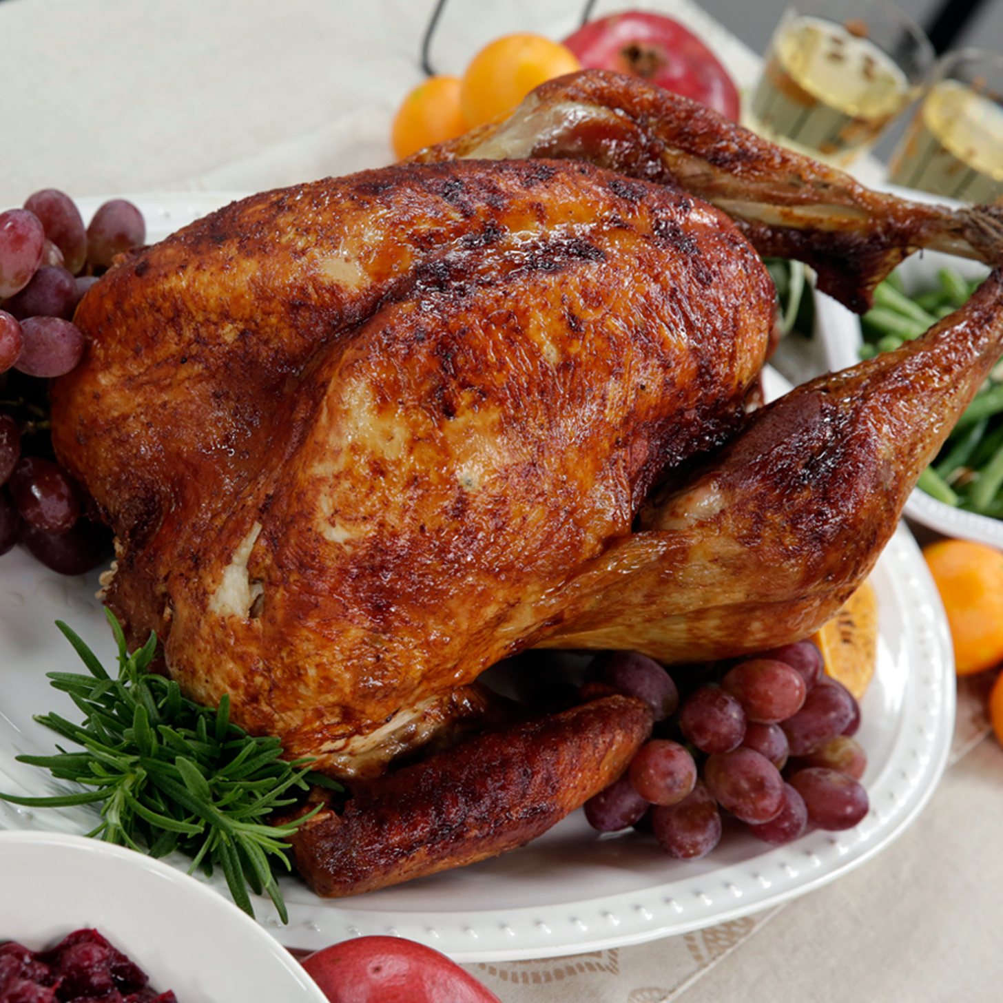 ... Turkey With Honey, Bourbon And Roasted Pecan Glaze Recipe — Dishmaps