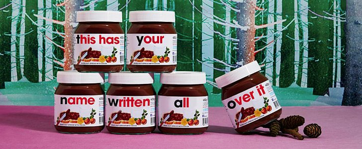 Personalized Nutella Jars Literally Have Your Name on Them