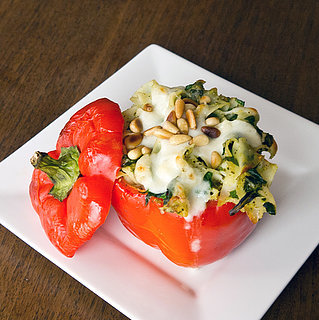 Pasta-Stuffed Red Peppers