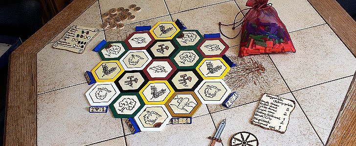 Whoa! 1 Woman Made Her Own Incredible Settlers of Catan Board
