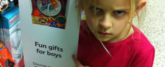 Superheroes Aren't Just For Boys — and This Little Girl's Glare Says It All