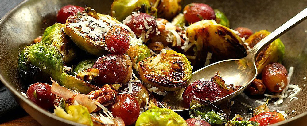 Charred Brussels Sprouts With Grapes Sounds Odd, Tastes Delicious