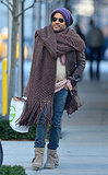Lenny Kravitz's Massive Scarf Is Still the Internet's Answer to Winter