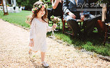 Check Out This Flower Girl's Awesome Boho Style!