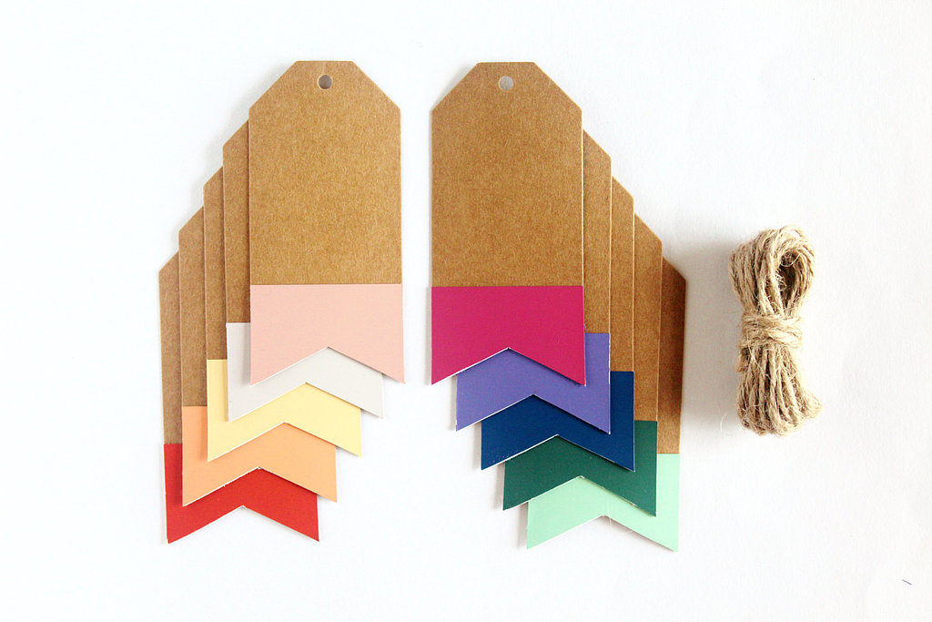 Paint Chip Gift Tag