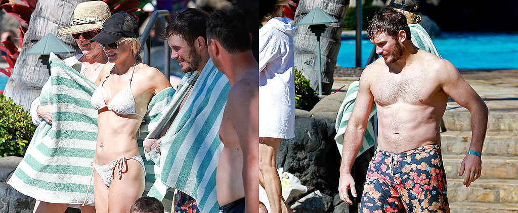 Chris Pratt and Anna Faris's Beach Bodies Are Out of This World