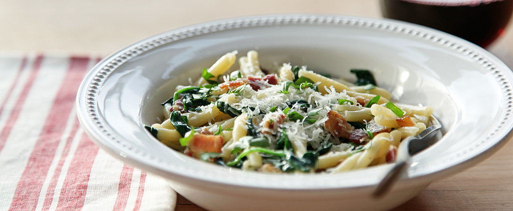 Cooking For 1: Pasta Carbonara With Spinach