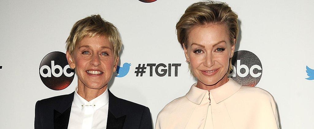 Portia de Rossi and Ellen DeGeneres Share an Adorable Makeup-Free Selfie