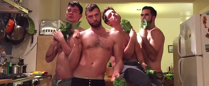 """A Bunch of Shirtless Guys Re-Created Beyoncé's """"7/11"""" Video With Actual Kale"""