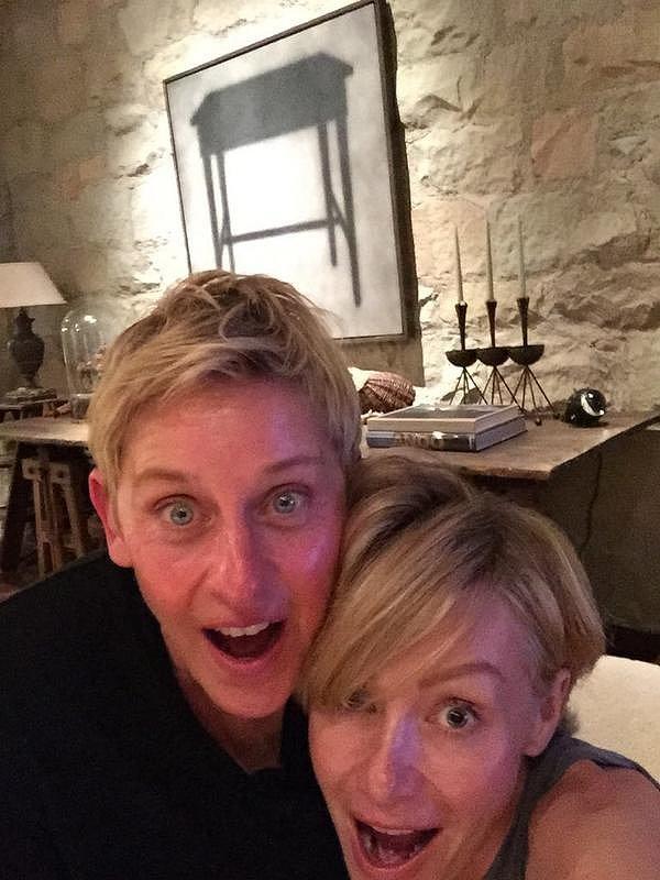 Portia and Ellen got surprised in September 2014.