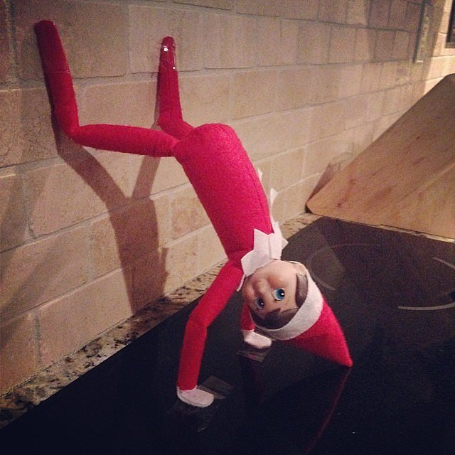 Tell The Kids That Handstand Push Ups Get The Elf In Tip