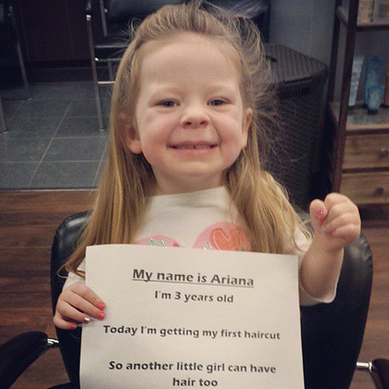 Girl Cuts Off Her Hair For Charity